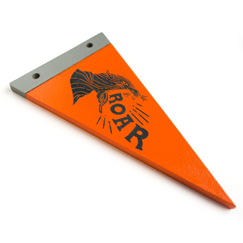 ROAR! - Wooden Pennant - Pillbox Bat Co.
