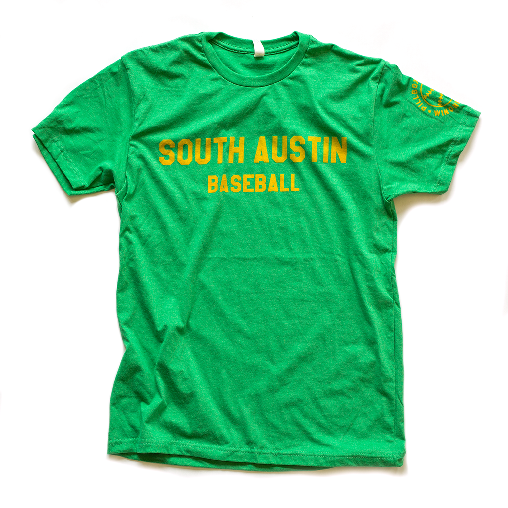 South Austin Parakeets - Green South Austin Baseball Tee