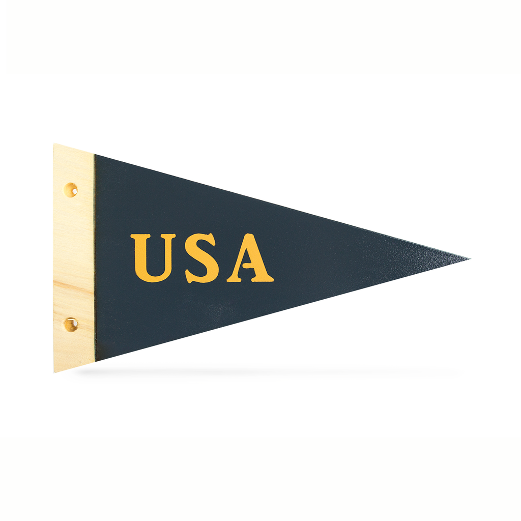 USA - Wooden Pennant - Pillbox Bat Co.