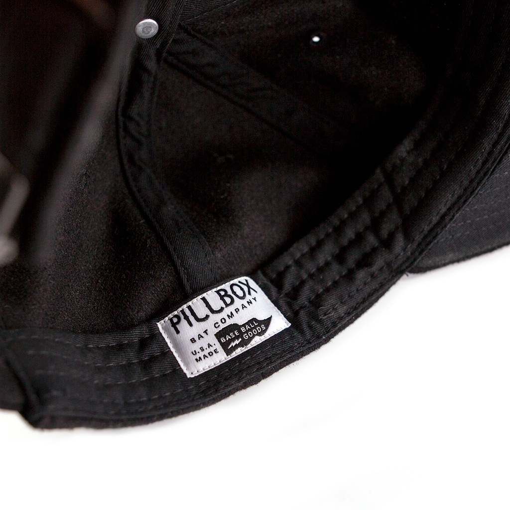 Wool PBC Logo Hat - Black - Pillbox Bat Co.