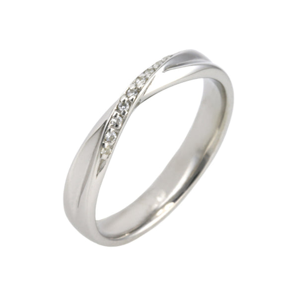 Bow Shape Diamond Wedding Band