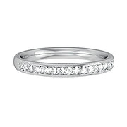 Micro Claw Half Eternity Ring 2.5mm