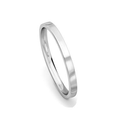 2mm Premium Flat Court Wedding Band