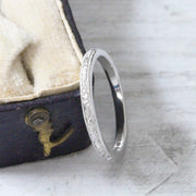 Vintage Style 2mm Engraved Wedding Band - Made to Order