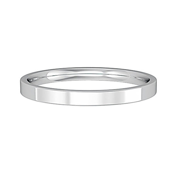 2mm Flat Court Shape Band
