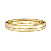 3mm Bombe Court Satin Band with 10 Diamonds