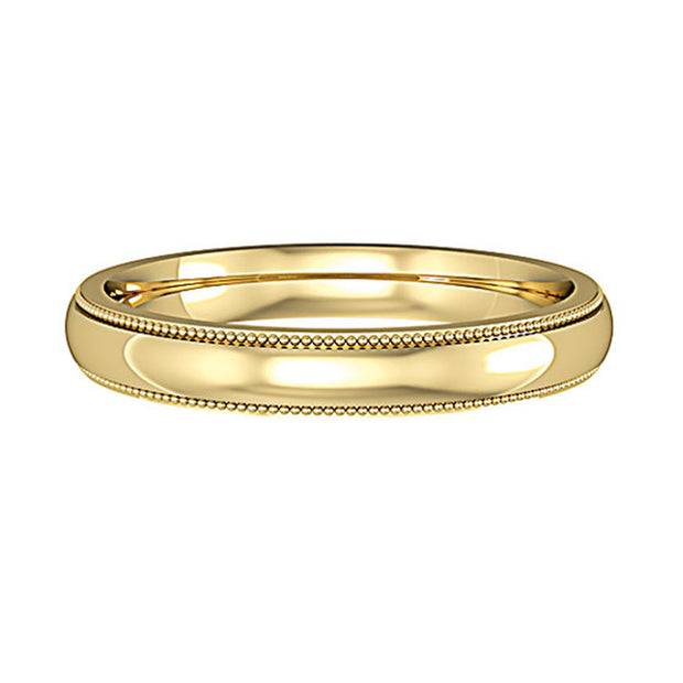 Mill Grain Court Shape Wedding Band 3mm