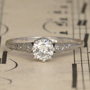 Vintage 0.55 Carat Diamond Solitaire Engagement Ring