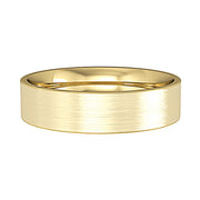 5mm Flat Court Satin Brushed Wedding Band