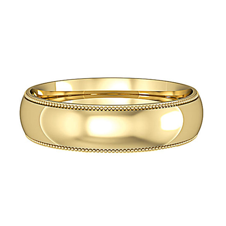 Mill Grain Court Shape Wedding Band 5mm