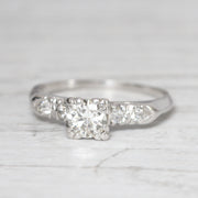 Art Deco 0.48 Carat Old European Cut Diamond Solitaire