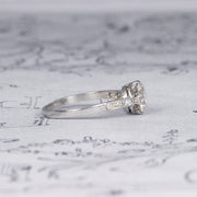 Art Deco French 1.17 Carat Old European Cut Diamond Solitaire