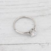 Mid-Century Vintage 0.67 Carat Brilliant Cut Diamond Solitaire