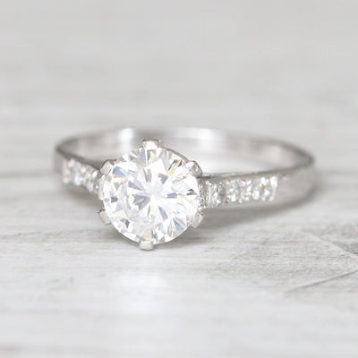 Vintage 1.01 Carat Brilliant Cut Diamond Solitaire
