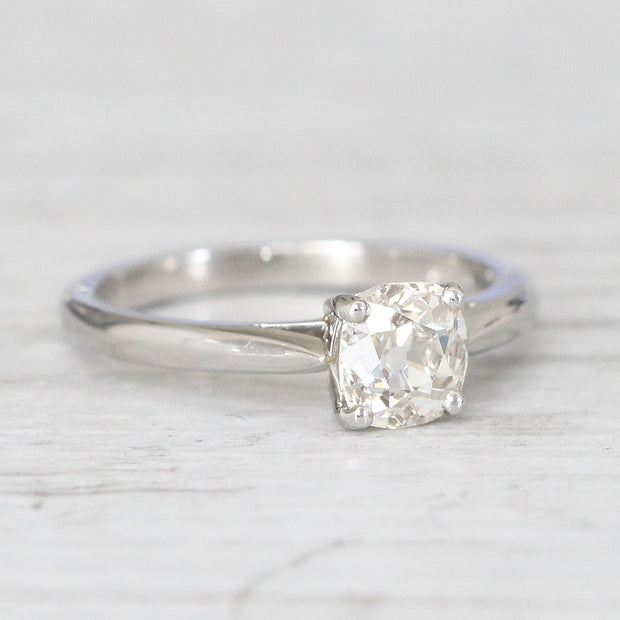 Art Deco Style 1.04 Carat Old Mine Cut Diamond Solitaire
