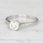 Art Deco 1 Carat Old European Cut Diamond Solitaire