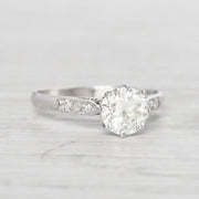 Art Deco 1.33 Carat Old European Cut Diamond Solitaire