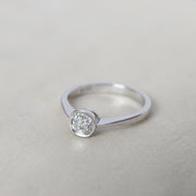 RESERVED Vintage Style 0.50 Carat Old Mine Cut Diamond Solitaire
