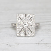 Art Deco 0.60 Carat Transitional Cut Diamond Panel Cluster
