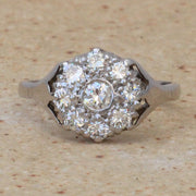 Vintage 0.55 Carat Diamond Cluster Ring