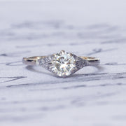 Vintage 0.85 Carat Transitional Cut Diamond Solitaire