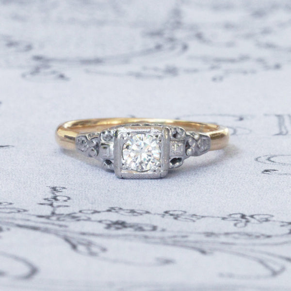 Vintage 0.30 Carat Diamond Solitaire Engagement Ring