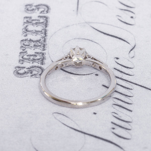 Vintage 0.45 Carat Diamond Solitaire Engagement Ring