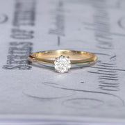 Edwardian 0.30 Carat Old Cut Diamond Solitaire