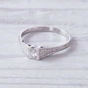 Vintage 0.25 Carat Brilliant Cut Diamond Solitaire Ring