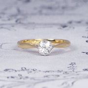 Antique 0.55 Carat Old Mine Cut Diamond Solitaire