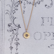 RESERVED Victorian Old Cut Diamond Pendant with Star Setting