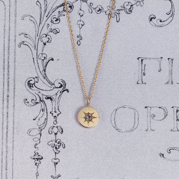 Victorian Old Cut Diamond Pendant with Star Setting