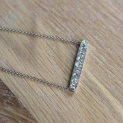 French Art Deco Old Cut Diamond Conversion Necklace