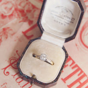 Vintage 0.45 Carat Brilliant Cut Diamond Solitaire