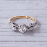 Vintage 0.40 Carat Brilliant Cut Diamond Solitaire