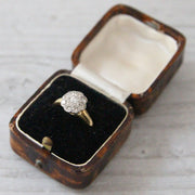 Victorian 0.55 Carat Old Cut Diamond Cluster Ring