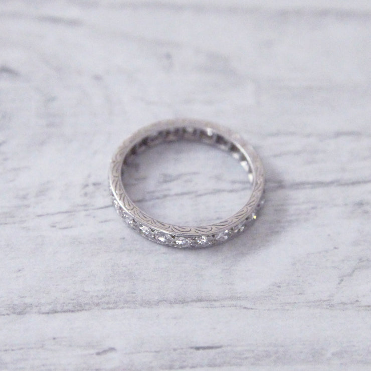 Art Deco Transitional Cut Diamond Full Eternity Ring
