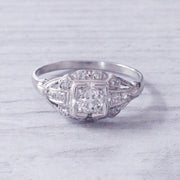 Art Deco 0.45 Carat Old European Cut Diamond Cluster
