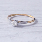 Vintage 0.25 Carat Brilliant Cut Diamond Solitaire