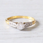 Vintage 0.30 Carat Brilliant Cut Diamond Solitaire