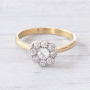 Edwardian 0.50 Carat Old Cut Diamond Daisy Cluster
