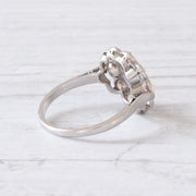 Art Deco 0.88 Carat Old Mine Cut Diamond Cluster Ring