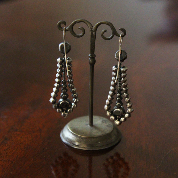 Vintage Georgian Style Paste Drop Earrings