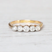 Victorian 0.45 Carat Old Cut Diamond Five Stone Ring