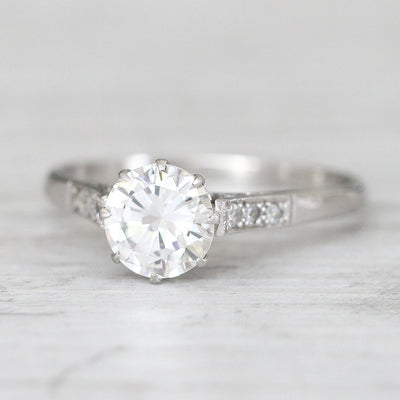 Vintage 1.19 Carat Brilliant Cut Diamond Solitaire