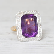 Vintage Amethyst and Diamond Cocktail Ring