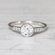 Art Deco 0.70 Carat Old European Cut Diamond Solitaire