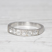 Art Deco 0.42 Carat Old Mine Cut Diamond Band