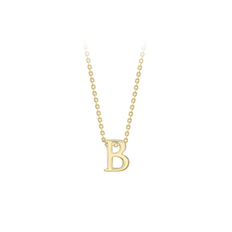 Initial Pendant 9ct Yellow Gold