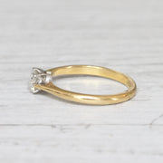 Edwardian 0.52 Carat Old European Cut Diamond Solitaire